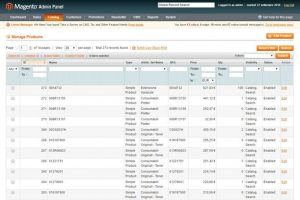 Pannello backoffice magento