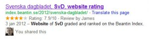 rich snippet review seo