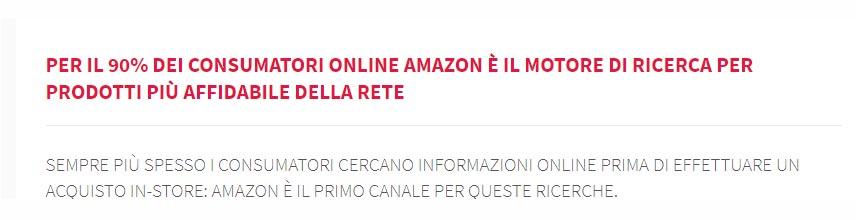 Amazon è il motore di ricerca per prodotti considerato più affidabile - IMPRIMIS