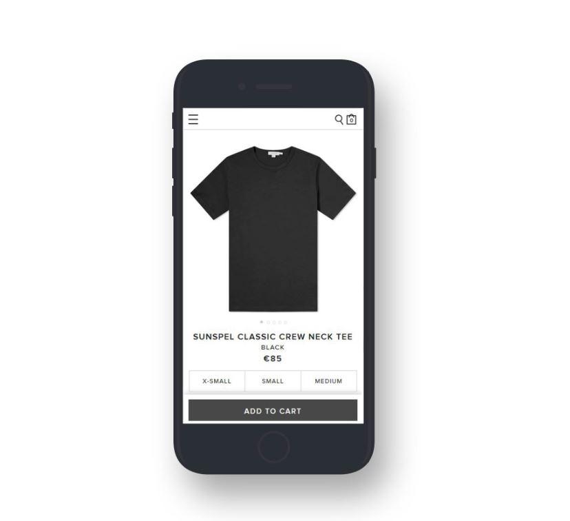 Mobile first design: la scheda prodotto