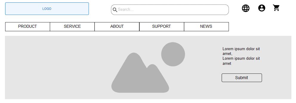 Struttura sito web: wireframe - IMPRIMIS