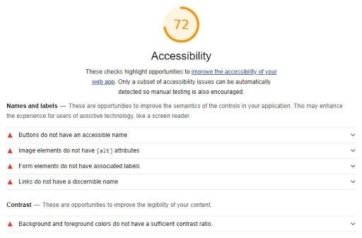 Ottimizzare pagine web per l'accessibilità