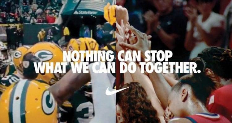messaggio pubblicitario Nike